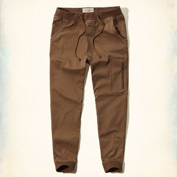 Hollister Twill Jogger Pants