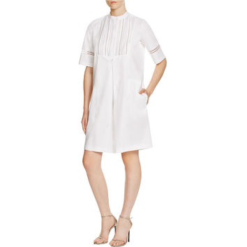 Vince Womens Mesh Tunic Tunic Dress