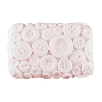 Button Soap - Custom Soap Made to Order - Looks Like Buttons on a Bar of Soap, You Pick Color and Scent