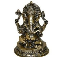 "Amazon.com: Hindu God Ganesha Brass Sculpture, Blessing Ganesha Spiritual Statue, Yoga Gifts 10"": Home & Kitchen"