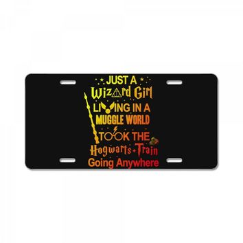 Just A Wizard Girl Living In A Muggle World License Plate