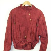 Red Suede Jacket | One