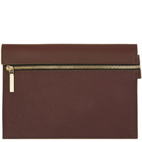 Victoria Beckham Small Burgundy Zip Pouch | Designer Bags | Liberty.co.uk