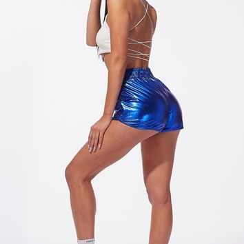 JEM Leisure Shorts Metallic Royal Blue