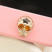 MinisDesign Inc 3D Crystal Skull Rhinestone iPhone 4,4s,5, ipad 2,3,mini, iPod touch Home Button Sticker