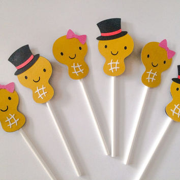 Little Peanut Cupcake Toppers | Baby Shower | Gender Reveal | Little Peanut Theme | Circus Carnival Theme