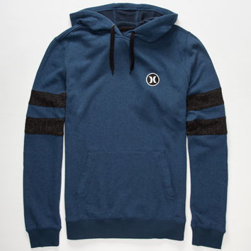 Hurley Block Party Retreat Mens Hoodie Heather Navy  In Sizes