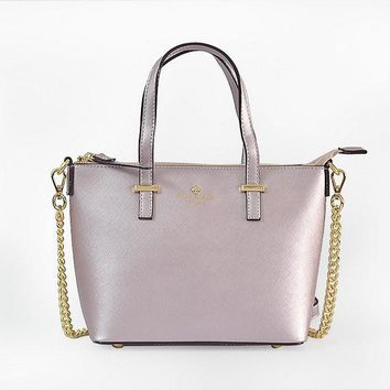 hot sale kate spade new york women fashion shopping pu tote handbag shoulder bag color light purple