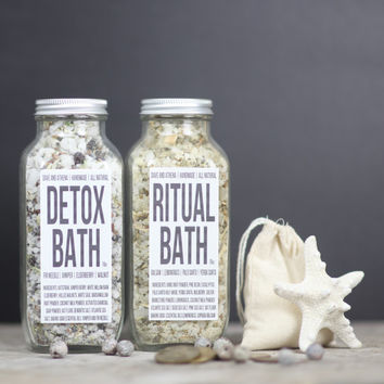 Detox Bath Salts, Best Valentine for Men, Charcoal Bath Salts, Coconut Milk Bath, Ritual Bath Soak, Mens Bath Salt, Oatmeal Detoxifying Bath