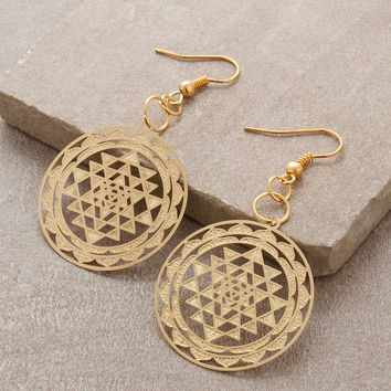 Shree Yantra Earrings