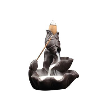 Backflow Incense Or Burner Creative Home Decoration Buddha Supplies Purple Clay Lotus Cone Incese Burner Stick Incense Holder