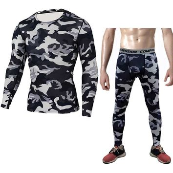 Men Pro Compression Long Johns Fitness Winter Quick Dry Gymming Male Spring Autumn Sporting Runs Workout Thermal Underwear Sets
