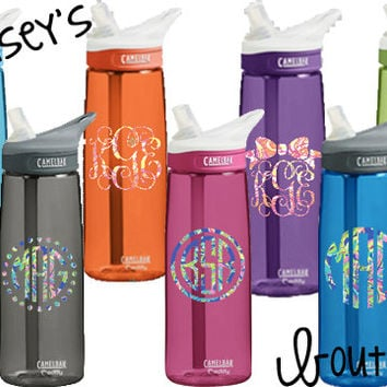 Personalized Name or Monogram Lilly Inspired Camelbak Eddy Water Bottle .75L