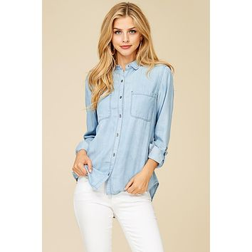 Chic Chambray Top