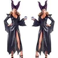 high-quality Maleficent costume PU Movie Maleficent cosplay Costumes Adlut sexy halloween Costumes for Women Party fancy dress