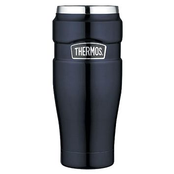 Thermos Stainless King Vacuum Insulated Travel Tumbler - 16 oz. - Stainless Steel-Midnight Blue [SK1005MBTRI4]
