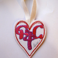 "Heart ornament with Amharic word for love, ""Fikir"" for Valentine's Day wall hanging home decor"