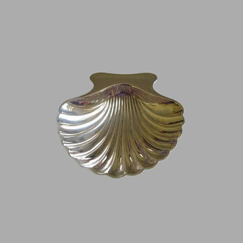 Tiffany Shell Dish, Vintage Tiffany & Co, Sterling Silver Scallop, Nut, Candy or Ring Dish, Decorative, Collectible!