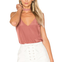 Capulet Flore Camisole with Choker in Terracotta   REVOLVE