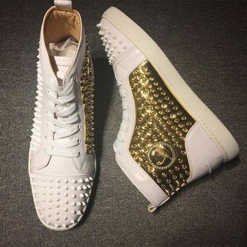 CREYNW6 Cl Christian Louboutin Louis Spikes Style #1834 Sneakers Fashion Shoes