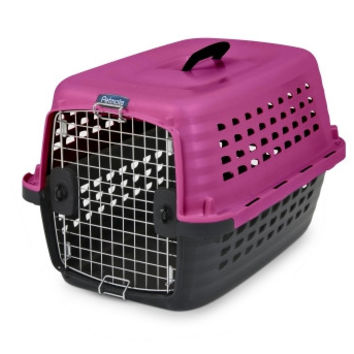 Petmate Compass Fashion Pet Kennel Carrier Chrome Door Pink 24 Inch