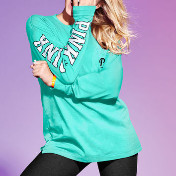 Campus Long Sleeve Tee - PINK - Victoria s Secret e6586e5f1