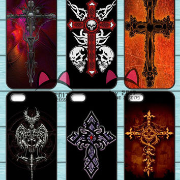 Gothic Cross TPU Phone Case for Iphone 4S 5S SE 5C 6 6S 7 Plus Sony Z2 Z3 Compact Z4 Z5 Mini HTC M7 M8 M9 820