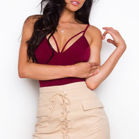 All My Life Lace Up Skirt - Tan