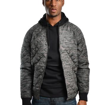 "Jack & Jones ""Snake"" Quilted Jacket - Forest Green"