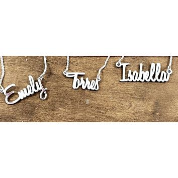 Bella Personalized Name Necklace