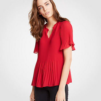 Micro Pleat Top | Ann Taylor