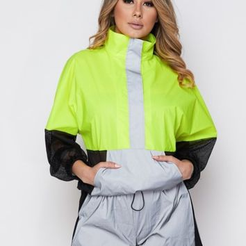Neon reflective short set