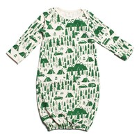 Baby Gown - Campground Green
