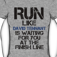 Run Like David Tennant is Waiting Women's T-Shirt