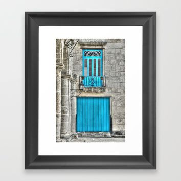 Cuba architecture Framed Art Print by Claude Gariepy