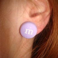 lilac m&m studs from emyjayne