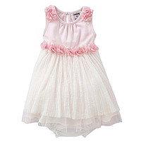 Counting Daisies 3-24 Months Knit-To-Mesh Ballerina Dress - Light Pink