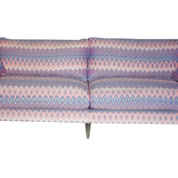 "Rutgers 84"" Sofa, Pink/Purple, Sofas & Loveseats"
