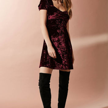UO Maeve Crushed Velvet Ruched Dress | Urban Outfitters Canada