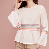Embroidered Stripes Blouse