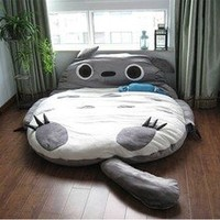 310*180cm Huge Cute Cartoon Totoro Double Bed Sleeping Bag Pad Sofa Fast Shipping Ship Worldwide