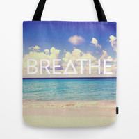 BREATHE Tote Bag by Good Sense