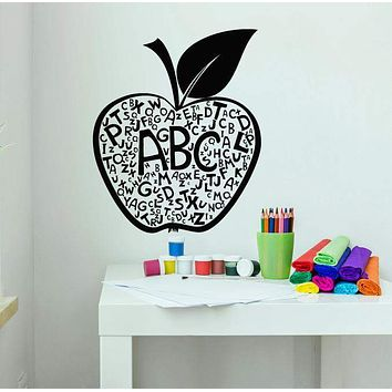 Vinyl Wall Decal Apple Letters Alphabet Decor For School Stickers (3067ig)