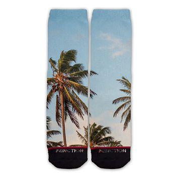 Function - Palm Trees Fashion Sock