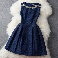Sweet Rhinestone Beading Embroidered Evening Dress & Party Dresses