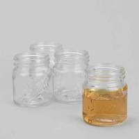 Mason Jar Shot Glass - Set Of 4- Assorted One