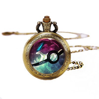Pokeball Suicune Pocket Watches Necklace,Gift Necklace,Pokemon Necklace,For Unisex Y210