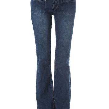 Q2 Flare Jeans With Patch Pockets