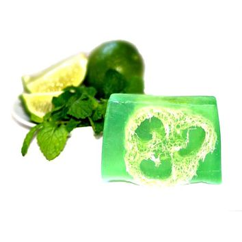 Mojito (Mint & Lime) Loofah Soap