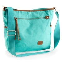 Aero Solid Canvas Crossbody Bag - Aeropostale